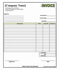 commercial invoice template free download gallery With blank invoice download