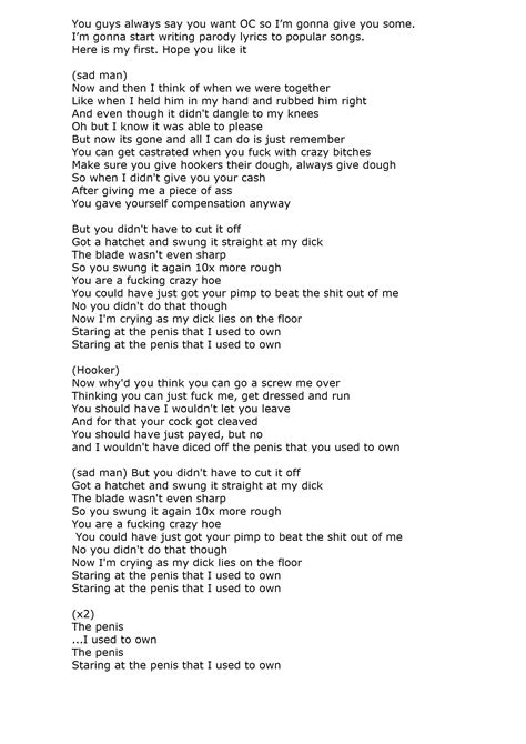 """Songs that make you feel like you're in a movie ( main character vibes ). """"Somebody I Used to Know"""" parody lyrics"""