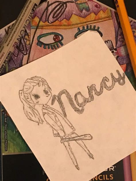 Nancy drawing as requested!   Stranger Things Amino