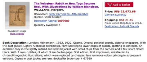 The Mystery Of The 71 Year Old Velveteen Rabbit