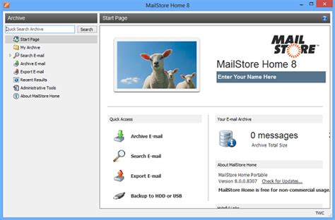 mailstore home is a free email archiving software for windows pc