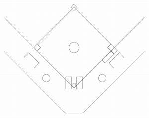 6 best images of softball field diagram template With baseball position chart template