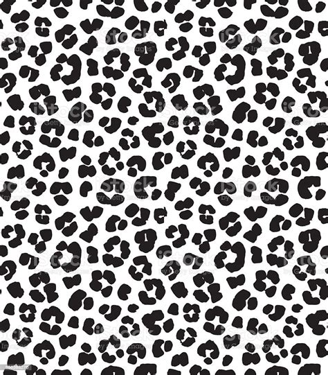 Leopard Print Seamless Background Pattern Black And White ...