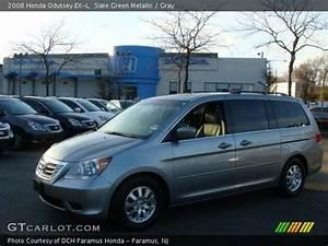 Slate Green Metallic - 2008 Honda Odyssey Ex-l - Gray Interior