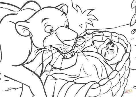 Bagheera Find Mowgli Coloring Page