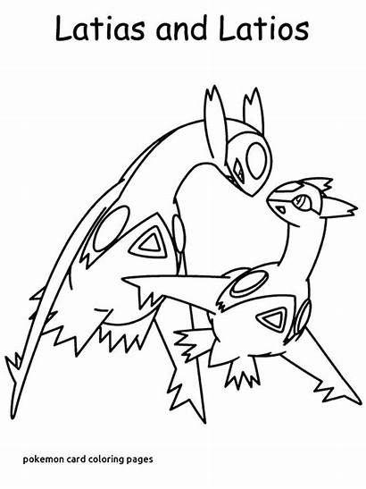 Pokemon Coloring Pages Card Printable Getcolorings