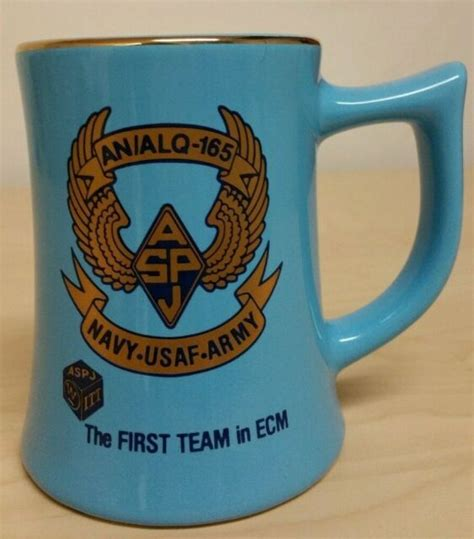 We offer a selection of customizable mugs as well and you can add your rank, rate, or badge to our coffee mugs or 60 oz. Navy-USAF-Army ASPJ Coffee Mug AN/ALQ-165   eBay