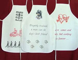 Funny Aprons for Every Occasion with Machine Embroidery