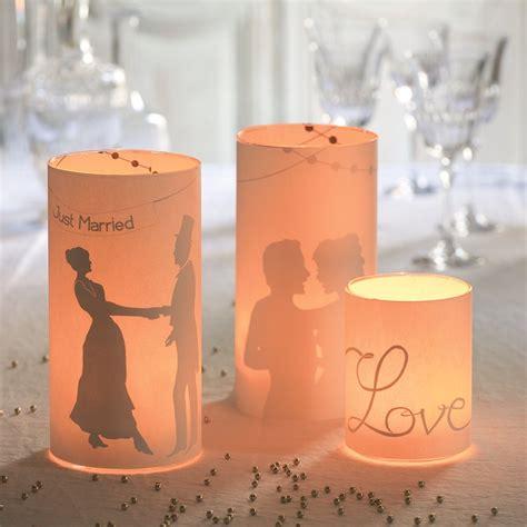 des photophores en papier pour un mariage