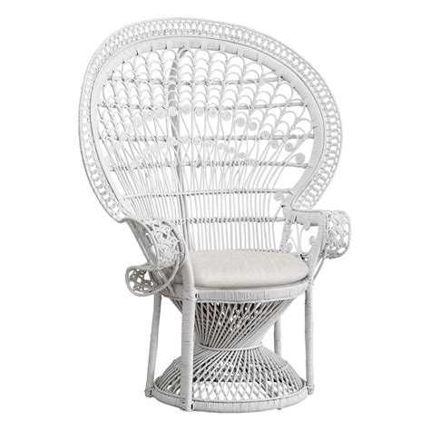 peacock chair white the family tree