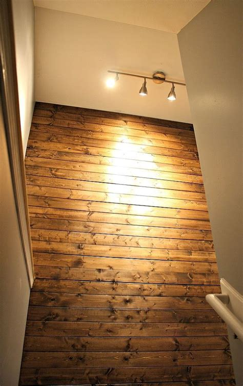 wood planks on walls diy wood planked wall