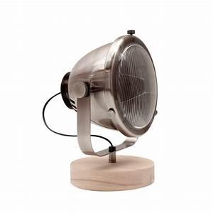 Lampe à Poser Bois : lampe poser r tro m tal et bois mills label51 drawer ~ Teatrodelosmanantiales.com Idées de Décoration