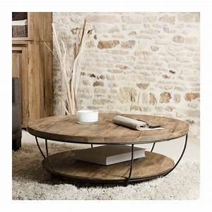 Table Ronde De Salon : table basse ronde noire double plateau 100cm tinesixe so inside ~ Teatrodelosmanantiales.com Idées de Décoration