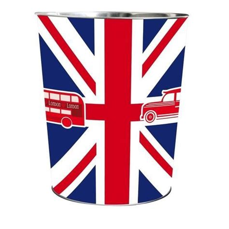 bureau drapeau anglais corbeille en métal drapeau angleterre achat