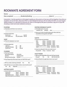 roommate agreement template free - 40 free roommate agreement templates forms word pdf