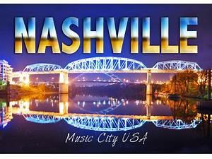 """Nashville Music City USA"" Nashville Postcard ..."
