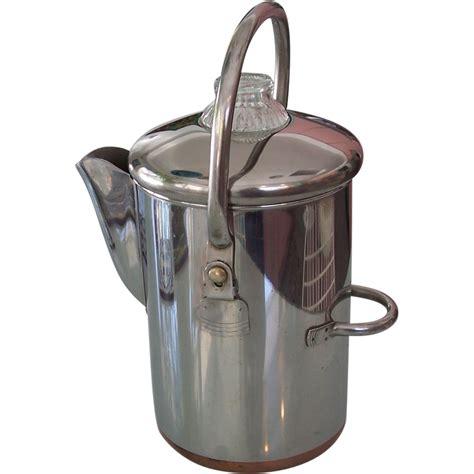 revere ware  cup coffee percolator copper clad pot sold ruby lane