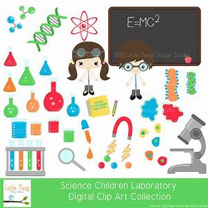 Science Laboratory Kids Children Digital Clipart clip art