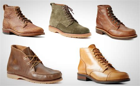 stylish pairs  leather boots  men winter