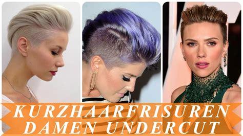 kurzhaarfrisuren frauen undercut schone undercut frisuren frau kurze haare 2018