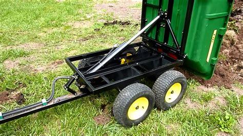 john deere p hydraulic tandem dump cart youtube