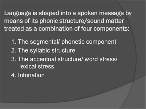 phonetic substance of language and ways of its analysis