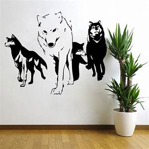 2016 new wolf wall decal vinyl wall sticker predator for Decorative wall decals