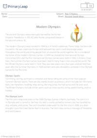 reading comprehension modern olympic games