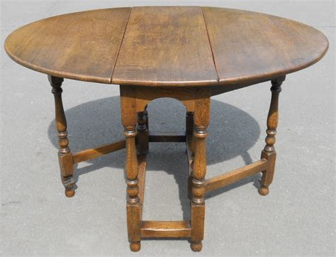 Small Oval Oak Dropleaf Gateleg Table by Titchmarsh & Goodwin