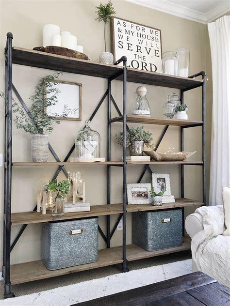 Regal Ideen Wohnzimmer by 26 Best Farmhouse Shelf Decor Ideas And Designs For 2019