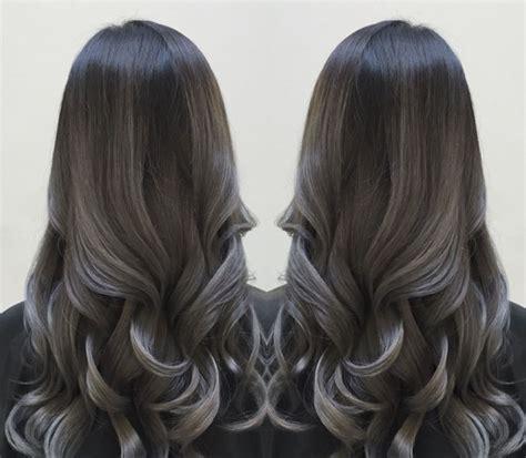 haarfarbe schwarz grau pin andrea auf hair graues ombre haar