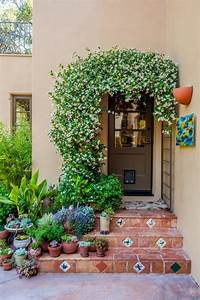 Front entryway ideas entry mediterranean with brown front