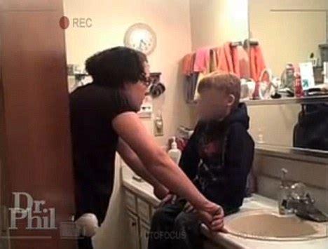 Milf Catches Son Shower