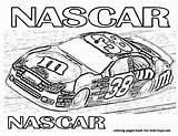 Coloring Nascar sketch template