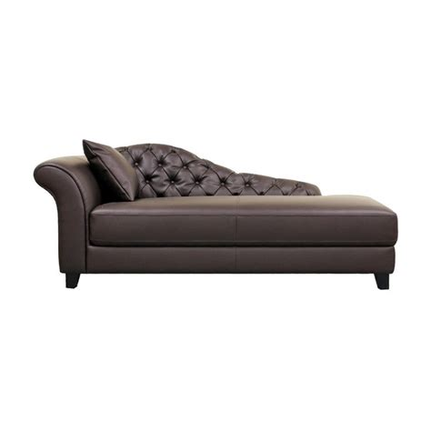 chaise designe baxton studio contemporary style chaise lounge brown