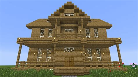 Wooden House In Minecraft - minecraft how to build a wooden house