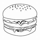 Hamburger Coloring Coloriage Kawaii Dessin Burger Hamburgers Colouring Facile Bun Pizza Mac Template Colorier Burgers Imprimer Freshies Essen Fensterbilder Colorear sketch template