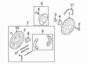 Kia Spectra Backing Plate  Plate Assembly