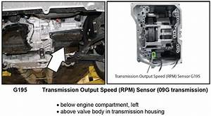 Where Is The Output Shaft Speed Sensor On 2007 Vw Jetta