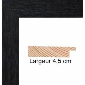 Cadre 40 X 60 : encadrement bois plat stri noir avec verre et dos prix discount sur cadre ~ Teatrodelosmanantiales.com Idées de Décoration