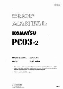 Komatsu Crawler Excavator Pc03