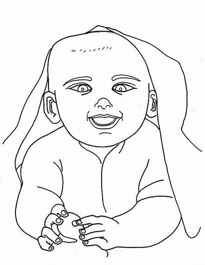 Coloring Pages Blanket Wrapped Getcolorings Babie Printable