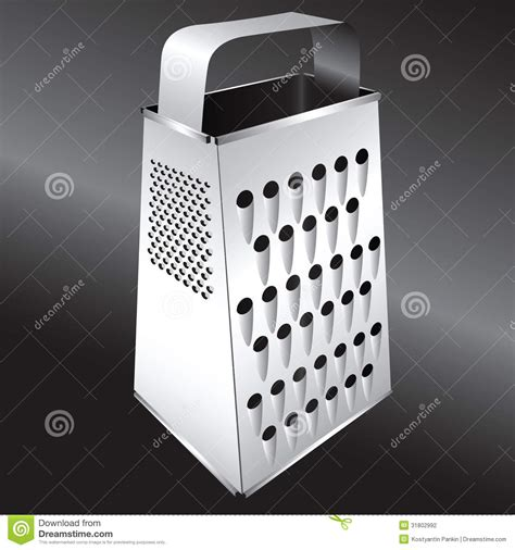 kitchen equipment grater stock vector image  detail