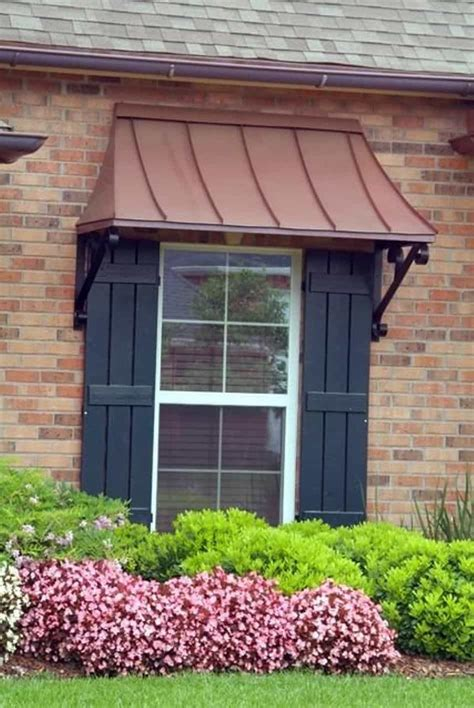 outdoor copper window awning amazing  stylish window awning wearefound home design