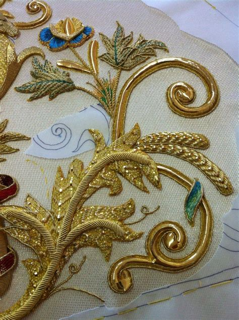 Pin on Embroidery - Goldwork