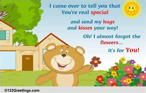 hugs  kisses  sister ecards greeting cards