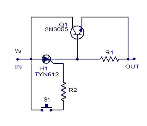 Simple Electronic Fuse Circuits Diagrams