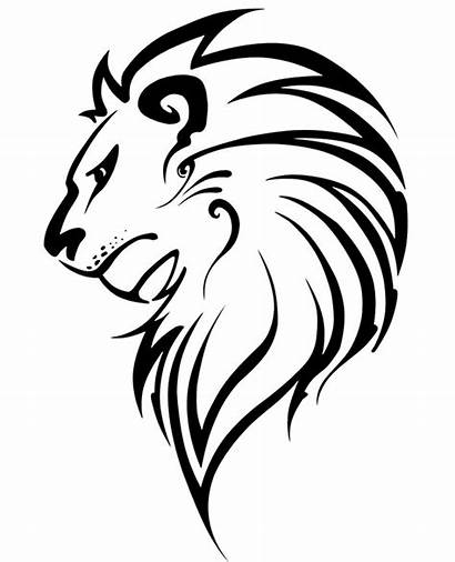 Lion Coloring Head Tattoo Pages Printable Adults