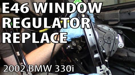 Bmw 330i 325i E46 Window Regulator Replacement