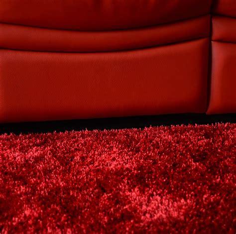 tapis sunny shaggy poils longs rouge tapis shaggy
